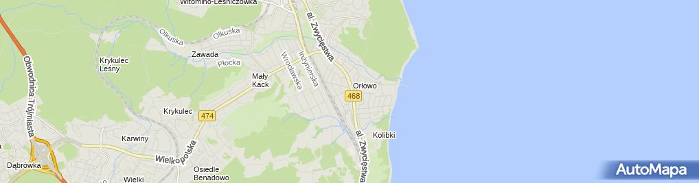 Zdjęcie satelitarne Usługi Szlifierskie