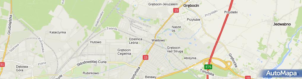 Zdjęcie satelitarne Usługi Taxi Stanisław Piankowski