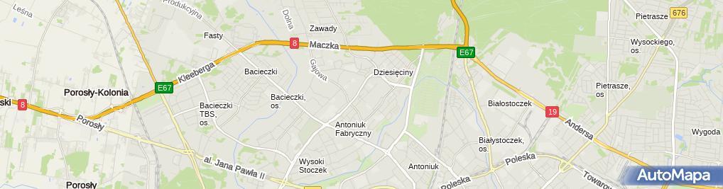 Zdjęcie satelitarne Usługi Techniczno-Dentystyczne Wojciech Błahuszewski