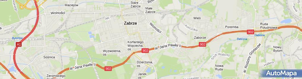 Zdjęcie satelitarne Usługi Transportowe Andrzej Romanowski