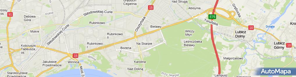 Zdjęcie satelitarne Usługi Transportowe Duo Trans Mendelewski Jacek Lewandowski Marian