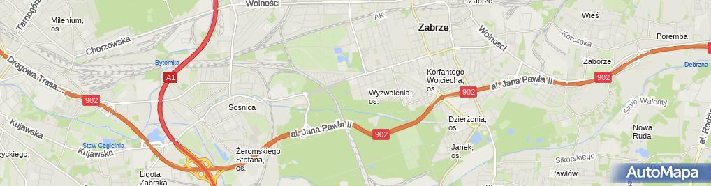 Zdjęcie satelitarne Usługi Transportowe Jolanta Dziekan
