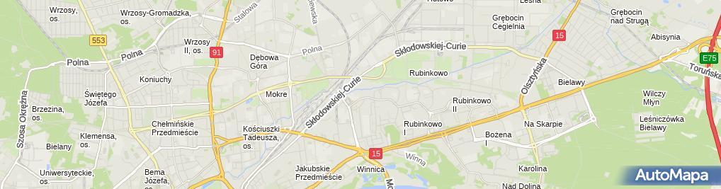 Zdjęcie satelitarne Usługi Transportowe Mega Katarzyna Cichowicz Paweł Cichowicz