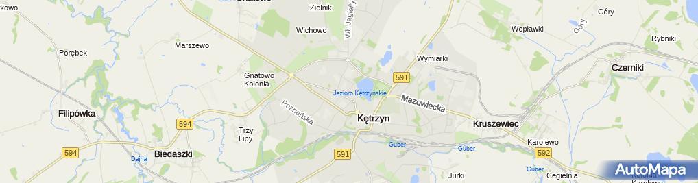 Zdjęcie satelitarne Usługi Transportowe Mrowiński Krzysztof & Kot Mariusz