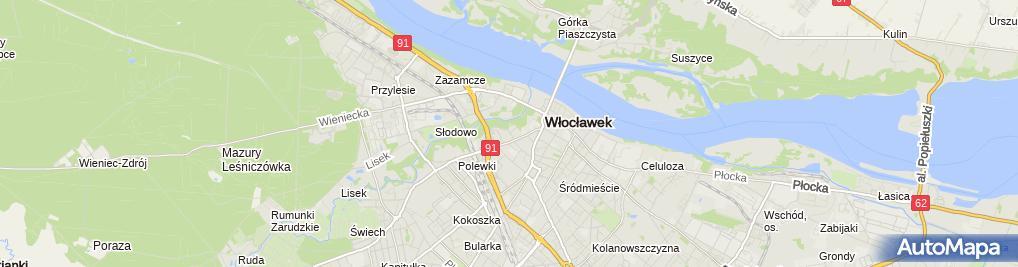 Zdjęcie satelitarne Usługi Transportowe Towarowo Osobowe Zdzisław Ryszard Zawadzki
