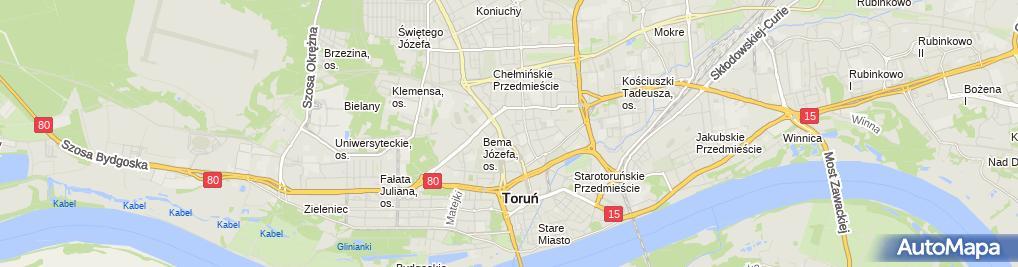 Zdjęcie satelitarne Usługi Ubezpieczeniowe Szwed Wiesław