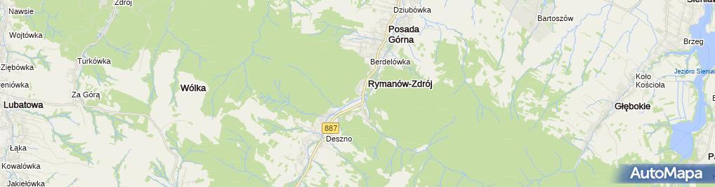 Zdjęcie satelitarne Usługi Wypoczynkowo Rekreacyjne Mat Wiernasz Wiesław Śliwka Tadeusz