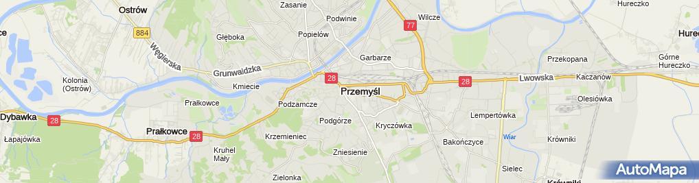 Zdjęcie satelitarne Usługowy Zakład Kominiarski nr 1 w Przemyślu Florian