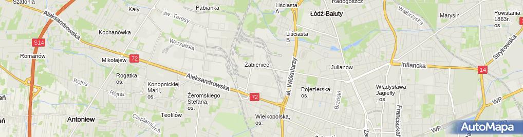 Zdjęcie satelitarne Venita Fabryka Kosmetyków