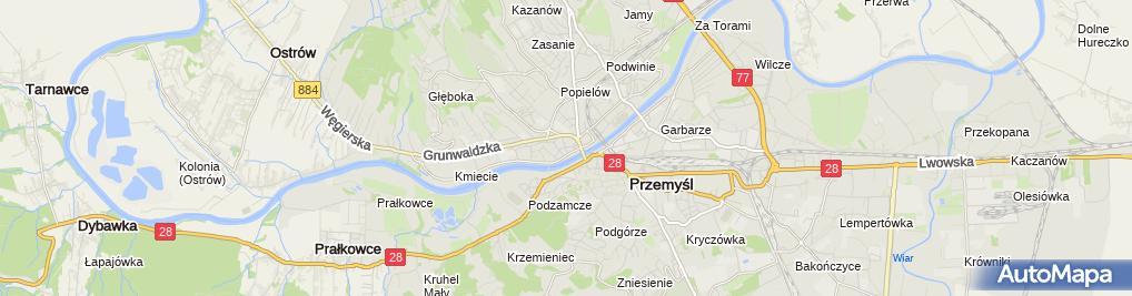 Zdjęcie satelitarne Wacław Danielak Anmed Laboratorium Analiz Medycznych