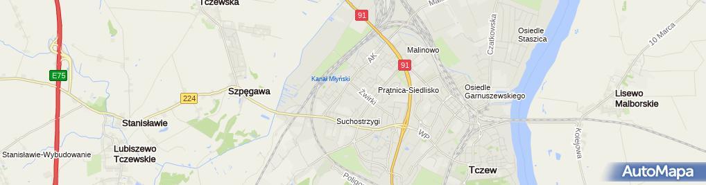 Zdjęcie satelitarne Wędliny Mięso Drób