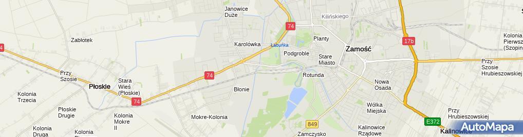 Zdjęcie satelitarne Wielobranżowe Przedsiębiorstwo Handlowo-Produkcyjne Motozbyt Katarzyna Siek