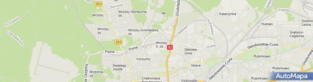 Zdjęcie satelitarne Wielobranżowe Przedsiębiorstwo Usługowo Produkcyjne Melbud Grzelczyk Marcin & Szefler Piotr