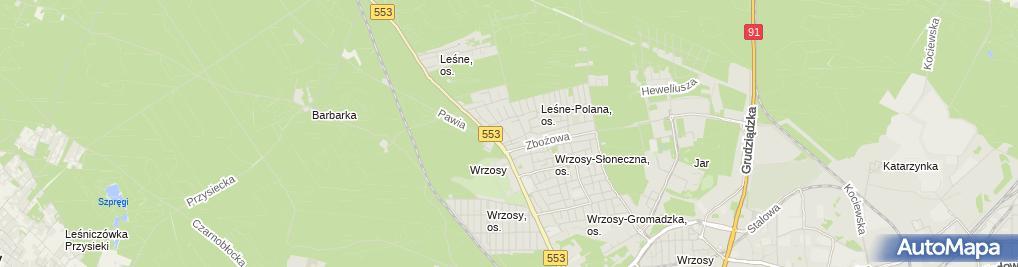 Zdjęcie satelitarne Wiesław Jurkiewicz Usługi Asenizacyjne i Transportowe