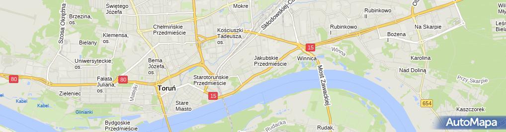 Zdjęcie satelitarne Wiesław Kuczarski Taksówka Osobowa