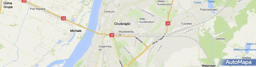 Zdjęcie satelitarne Wiesława Jabłońska - Działalność Gospodarcza