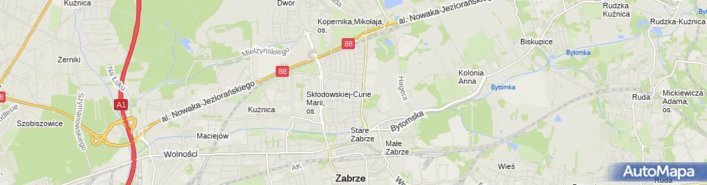 Zdjęcie satelitarne Wiesława Kowalczyk-Praktyka Pielęgniarska
