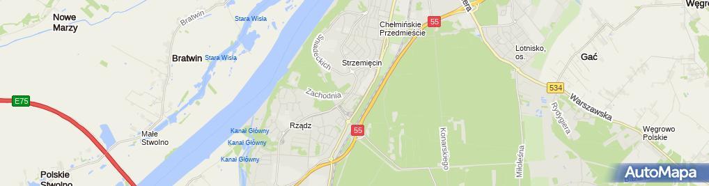 Zdjęcie satelitarne Wiesława Otlewska F.U.H.