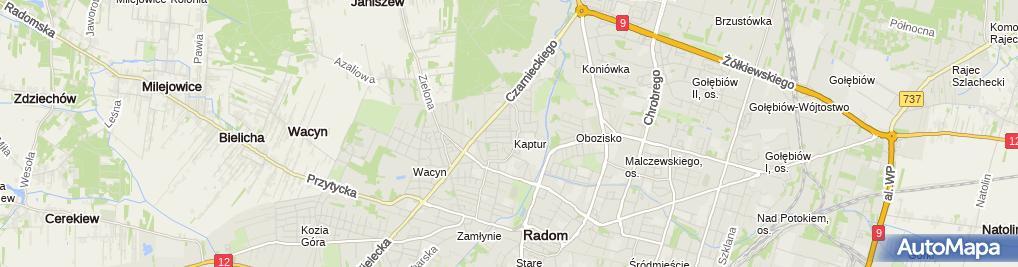 Zdjęcie satelitarne Wioletta Pożyczka Adamaszek Horeca i Wspólnik Spółki Cywilnej Wanda Sklep Kosmetyczny