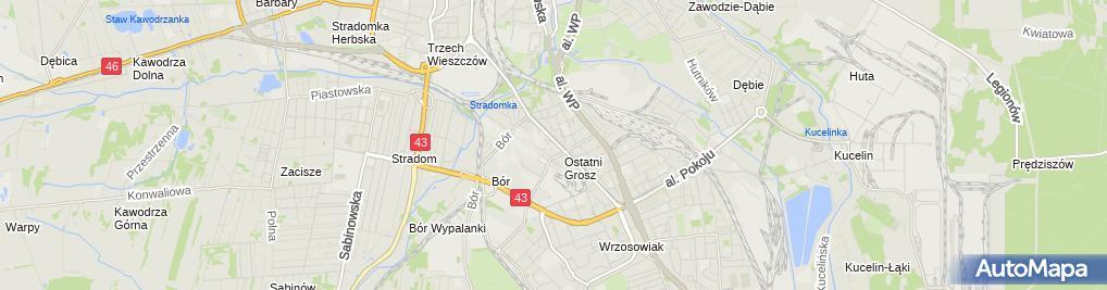 Zdjęcie satelitarne Witold Kubat Przedsiębiorstwo Wielobranżowe Trust