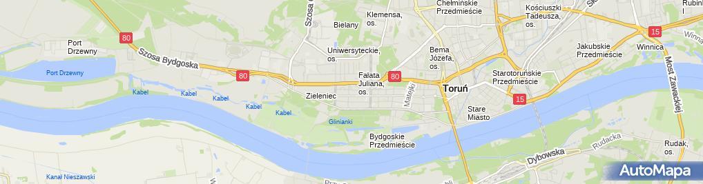 Zdjęcie satelitarne Witold Modrzyński Taxi Osobowe