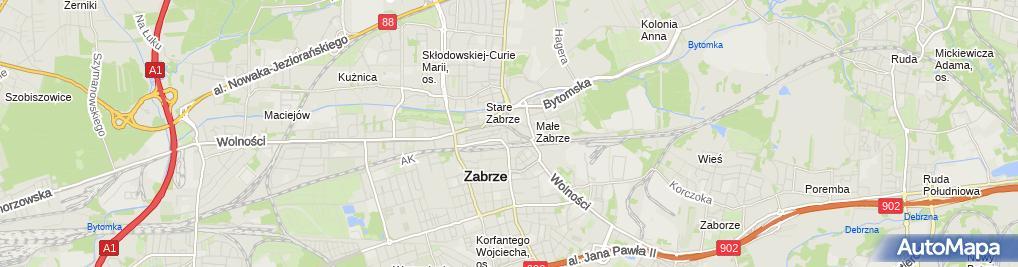 Zdjęcie satelitarne Włodzimierz Baran - Działalność Gospodarcza