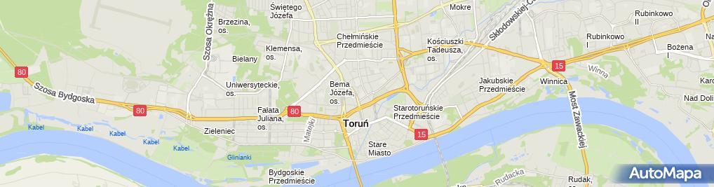 Zdjęcie satelitarne Wojewódzki Urząd Pracy w Toruniu