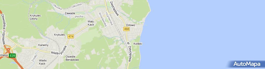 Zdjęcie satelitarne Wolne Pokoje Orłowo