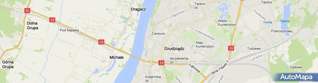 Zdjęcie satelitarne Wspólnota Mieszkaniow przy ul.Aleja Chełmońskiego 5