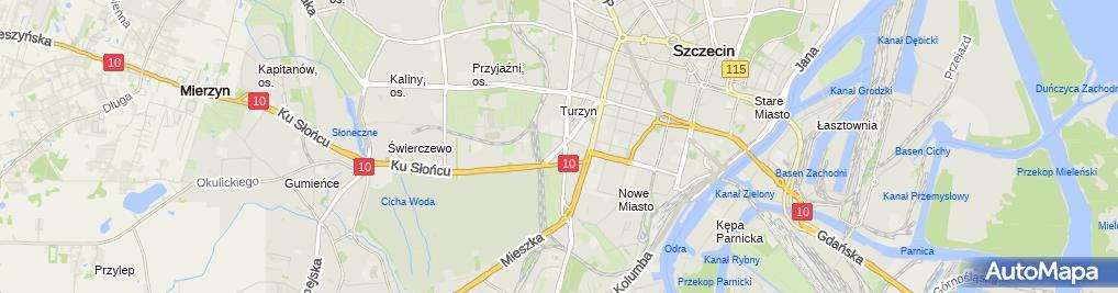 Zdjęcie satelitarne Wspólnota Mieszkaniowa Modra 96, 96A-H