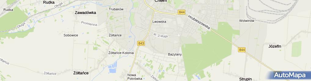 Zdjęcie satelitarne Wspólnota Mieszkaniowa Nieruchomości nr 3 przy ul.Małachowskiego 3