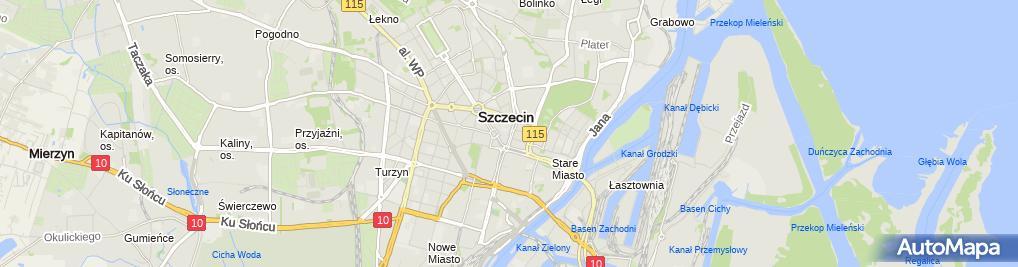 Zdjęcie satelitarne Wspólnota Mieszkaniowa nr 27-52-52B przy ul.Rugiańskiej