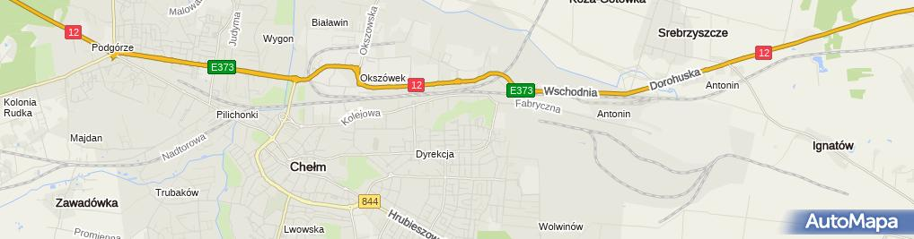 Zdjęcie satelitarne Wspólnota Mieszkaniowa Osiedle Zielone w Chełmie ul.Płk.w.Muzyki 39A