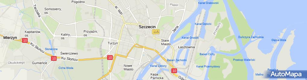 Zdjęcie satelitarne Wspólnota Mieszkaniowa przy ul.5 Lipca 39 w Szczecinie