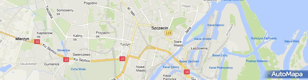 Zdjęcie satelitarne Wspólnota Mieszkaniowa przy ul.Akwarelowej 29, 31, 33 w Szczecinie