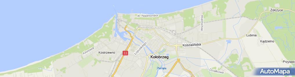 Zdjęcie satelitarne Wspólnota Mieszkaniowa przy ul.Armii Krajowej 3-4-5-6-7 w Kołobrzegu