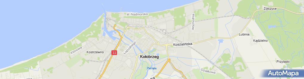 Zdjęcie satelitarne Wspólnota Mieszkaniowa przy ul.Armii Krajowej 9 w Kołobrzegu