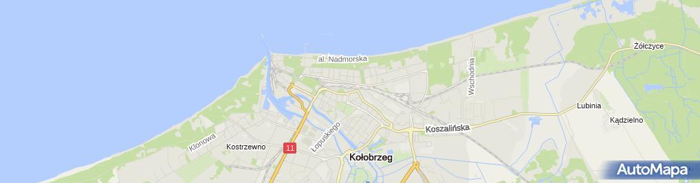 Zdjęcie satelitarne Wspólnota Mieszkaniowa przy ul.Jedności Narodowej 84A, 84B w Kołobrzegu