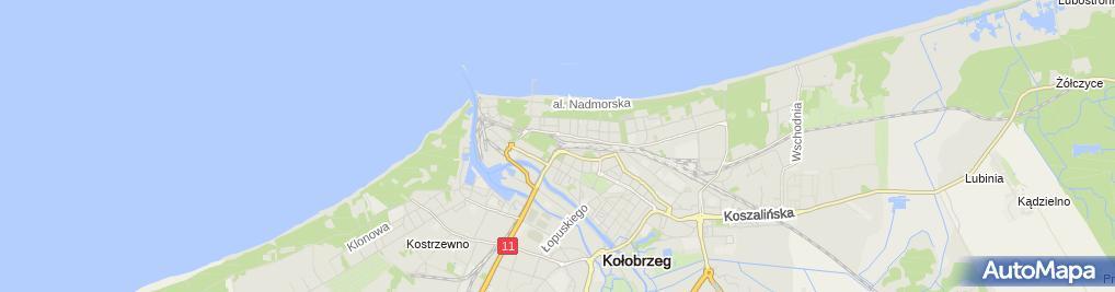 Zdjęcie satelitarne Wspólnota Mieszkaniowa przy ul.Kościuszki 7-8 w Trzebiatowie
