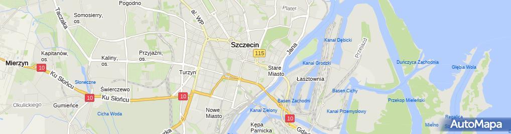 Zdjęcie satelitarne Wspólnota Mieszkaniowa przy ul.Roentgena 11 w Szczecinie
