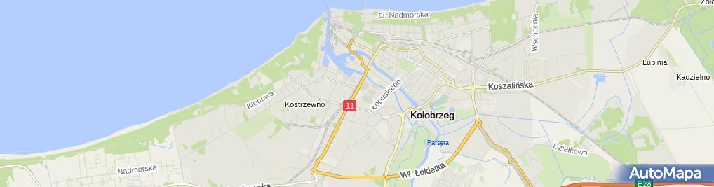 Zdjęcie satelitarne Wspólnota Mieszkaniowa przy ul.Słonecznej nr 72 w Mrzeżynie