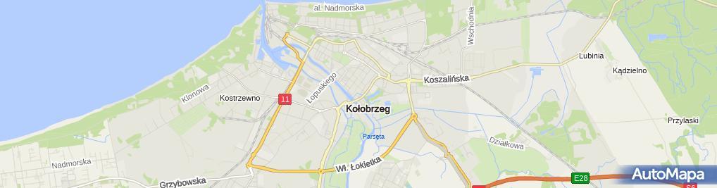 Zdjęcie satelitarne Wspólnota Mieszkaniowa przy ul.Szpitalnej 7 w Kołobrzegu