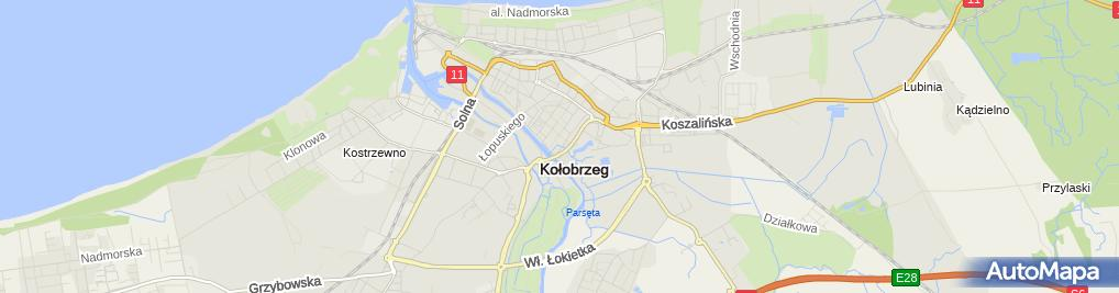 Zdjęcie satelitarne Wspólnota Mieszkaniowa przy ul.Unii Lubelskiej 67 w Kołobrzegu