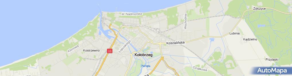 Zdjęcie satelitarne Wspólnota Mieszkaniowa przy ul.Wiedeńskiej nr 1A, 1B, 1C, 1D w Kołobrzegu