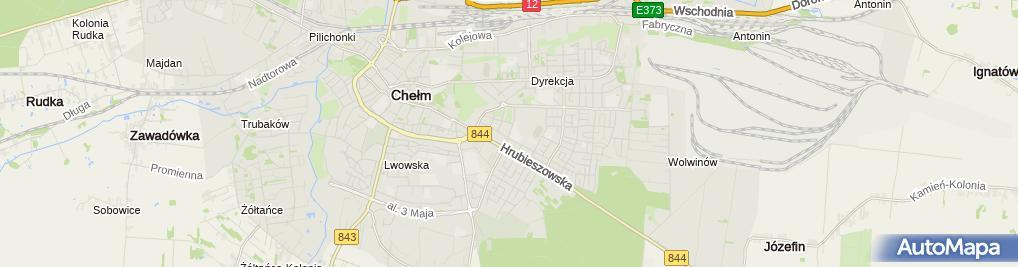 Zdjęcie satelitarne Wspólnota Mieszkaniowa przy ul.Wiejskiej 26 w Chełmie