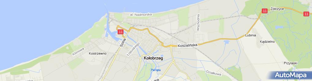 Zdjęcie satelitarne Wspólnota Mieszkaniowa przy Ulicy Walki Młodych 35 w Kołobrzegu