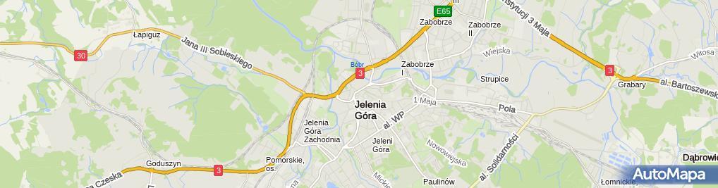 Zdjęcie satelitarne Wspólnota Mieszkaniowa ul.Kadetów 9 Jelenia Góra