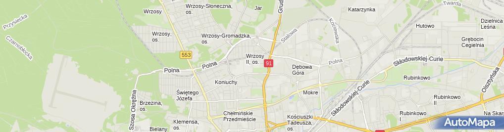 Zdjęcie satelitarne Współnota Mieszkaniowa ul.Kościuszki 6