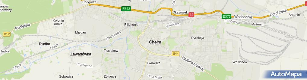 Zdjęcie satelitarne Wspólnota Mieszkaniowa ul.Krzywa 25