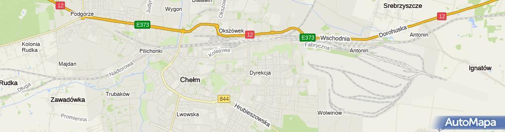 Zdjęcie satelitarne Wspólnota Mieszkaniowa ul.Wołyńska 16 w Chełme